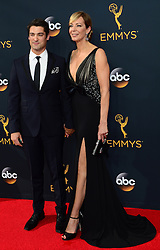 September 18, 2016 - Los Angeles, California, United States - Allison Janney and guest arrive at the 68th Annual Emmy Awards at the Microsoft Theater in Los Angeles, California on Sunday, September 18, 2016. (Credit Image: © Michael Owen Baker/Los Angeles Daily News via ZUMA Wire)