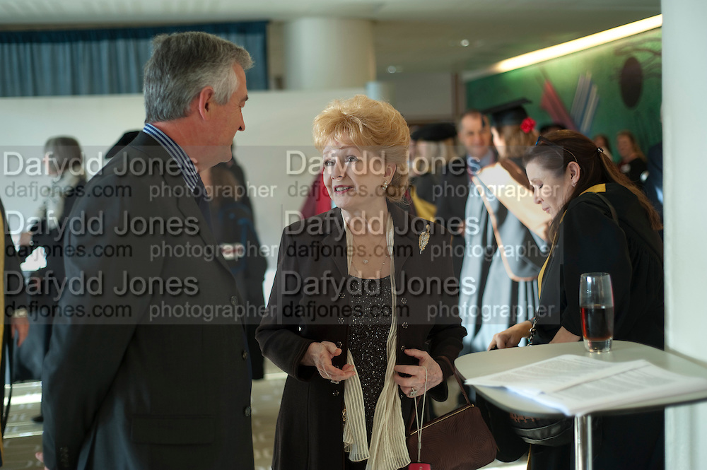 WILLIAM BURDETT-COUTTS; DEBBIE REYNOLDS, Central School of Speech and Drama presents Honory Fellowships to Carrie Fisher, Bette Bourne, Joseph Selig and Helen Lannaghan. Royal Festival Hall. London. 12 December 2011.