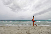 Young woman enjoying the beach, Formentera