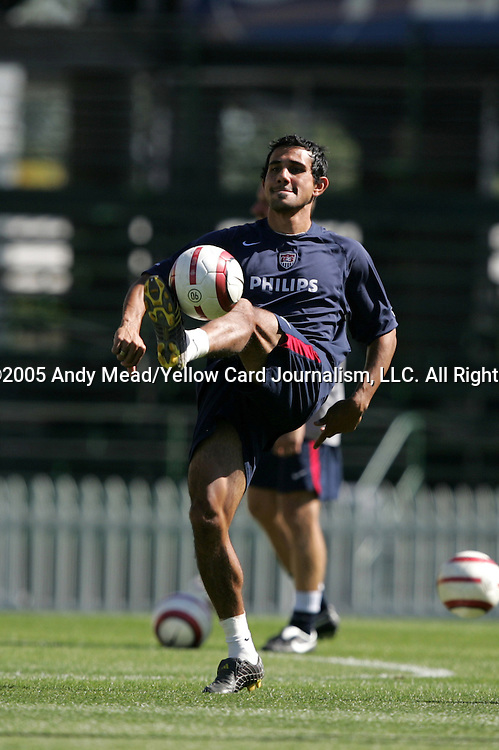 Pablo Mastroeni juggles the ball on Friday, September 2nd, 2005, during the United States Men's National Team soccer practice at Columbus Crew Stadium in Columbus, Ohio.