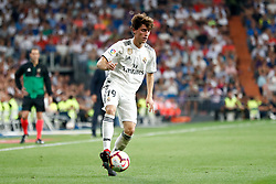 September 22, 2018 - Alvaro Odriozola of Real Madrid during the La Liga (Spanish Championship) football match between Real Madrid and RCD Espanyol on September 22th, 2018 at Santiago Bernabeu stadium in Madrid, Spain. (Credit Image: © AFP7 via ZUMA Wire)