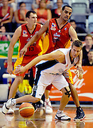 Thomas Abercrombie (NZ)<br /> New Zealand Breakers vs Melbourne Tigers<br /> Basketball- NBL Semi Finals Game 1<br /> Melbourne / Weds 25 Feb 2009<br /> © Sport the library / Jeff Crow