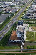 Nederland, Zuid-Holland, Zoetermeer, 23-05-2011; Bouwhuis, hoofdkantoor Bouwend Nederland van Klunder Architecten..Headoffice of Bouwend Nederlend, the Dutch Construction and Infrastructure Federation..luchtfoto (toeslag), aerial photo (additional fee required).copyright foto/photo Siebe Swart
