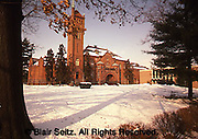 Theological Seminary with winter snow, Lancaster, PA