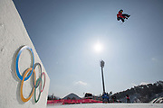 Billy Morgan, Great Britain, during the mens snowboard big air practice at the Pyeongchang 2018 Winter Olympics on 22nd February 2018, at the Alpensia Ski Jumping Centre in Pyeongchang-gun, South Korea