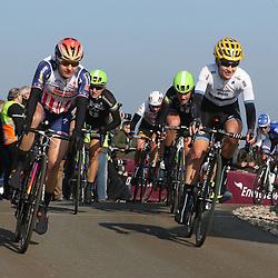 13-03-2016: Wielrennen: Acht van Dwingeloo: Dwingeloo <br />DWINGELOO (NED) wielrennen<br />Megan Garnier, Emma Johannson