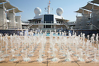 Celebrity Eclipse interior photos..Pool with fountains