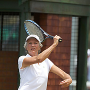 Sylvie Galfard, France,  in action in the 65 Womens Singles during the 2009 ITF Super-Seniors World Team and Individual Championships at Perth, Western Australia, between 2-15th November, 2009.