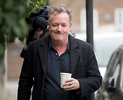 © Licensed to London News Pictures. 10/03/2021. London, UK. Former Good Mooring Britain host PIERS MORGAN   returns to his London home the morning after resigning over comments he made about The Duchess of Sussex, Meghan Markle. Photo credit: Ben Cawthra/LNP