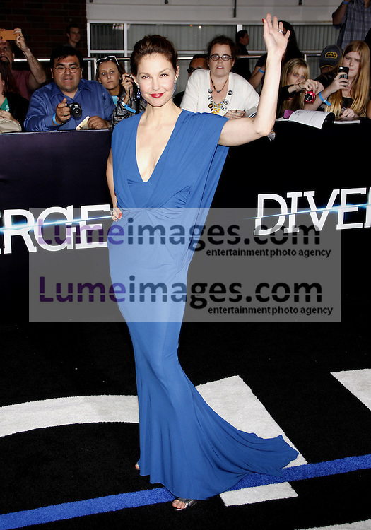 """Ashley Judd at the Los Angeles premiere of """"Divergent"""" held at the Regency Bruin Theatre in Westwood, USA on March 18, 2014."""