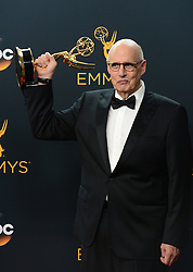 September 18, 2016 - Los Angeles, California, United States - Jeffrey Tambor who won the Emmy award for Outstanding Lead Actor in a Comedy Series poses backstage at the 68th Annual Emmy Awards at the Microsoft Theater in Los Angeles, California on Sunday, September 18, 2016. (Credit Image: © Michael Owen Baker/Los Angeles Daily News via ZUMA Wire)