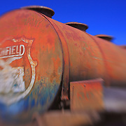 Rusted Atlantic Richfield Gas Tanker Truck - Motor Transport Museum - Campo, CA - Lensbaby