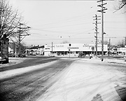ackroyd 01248-2  NE 33rd & Sandy, Portland, Oregon. view looking northwest, January 31, 1949