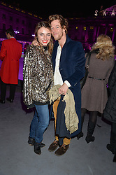 LOIS WINSTONE and DAVID LONG at Skate at Somerset House in association with Fortnum & Mason held on 10th November 2014.