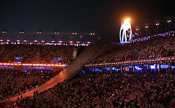 The Paralympic flame during the Closing Ceremony for the PyeongChang 2018 Winter Paralympics in South Korea.