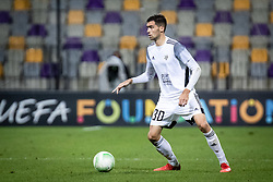 Jan Gorenc of NS Mura during football match between NS Mura and Rennes (FRA) in group stage of UEFA Europa Conference League 2021/22, on 20 of October, 2021 in Ljudski Vrt, Maribor, Slovenia. Photo by Blaž Weindorfer / Sportida