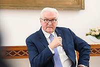 02 FEB 2021, BERLIN/GERMANY:<br /> Frank-Walter Steinmeier, Bundespraesident, waehrend einem Interview, Robert-Blum-Saal, Schloss Bellevue<br /> IMAGE: 20210202-01-051<br /> KEYWORDS: BUndespräsident