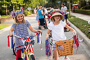 Young girls dressed in patriotic costume during the annual I'On Community Independence Day Parade on July 4, 2012 in Mt Pleasant, South Carolina.
