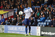 Greg Leigh of Bury looks to take a throw in. EFL Skybet football league one match, Bury v Port Vale at Gigg Lane in Bury ,Lancs on Saturday 3rd September 2016.<br /> pic by Chris Stading, Andrew Orchard sports photography.