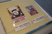 Korean propaganda on display at the DMZ Museum on 06th February 2016 in the Goseong County in South Korea. Established as a constant reminder of its painful past, the museum embraces everything about the latest efforts made to transform the DMZ Demilitarised Zone from a place of political scars to a symbol of peace and ecology. The museum features exhibition halls arranged under a number of different themes that underscore the historical significance of the DMZ and its value as a treasure trove of ecology for the future. The Path to Peace tour was organised by PyeongChang and The Ministry of Culture, Sports and Tourism.