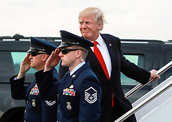 January 1, 2018 - Florida, U.S. - President Donald Trump boards Air Force One at Palm Beach International Airport in West Palm Beach Monday, January 1, 2018. (Credit Image: © Bruce R. Bennett/The Palm Beach Post via ZUMA Wire)