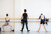 Ballet dancers from all over the San Francisco Bay Area audition for Bay Pointe Ballet, a new professional ballet company under the artistic direction of Bruce Steivel, at Alonzo King Lines Ballet in San Francisco, California, on June 2, 2013. (Stan Olszewski/SOSKIphoto)