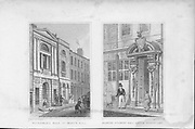 Waterman's Hall and Painter Stainer's Hall, engraving 'Metropolitan Improvements, or London in the Nineteenth Century' London, England, UK 1828