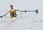 Poznan, POLAND,  SWE M1X, Lassi KARONEN, moves away from the start, in his morning heat, at the 2008 FISA World Cup. Rowing Regatta. Malta Rowing Course on Friday, 20/06/2008. [Mandatory Credit:  Peter SPURRIER / Intersport Images] Rowing Course:Malta Rowing Course, Poznan, POLAND