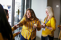 Gift cards were given out to the first 2500 customers at the grand opening of the new Ikea in Burbank. The new Ikea store comes in at 456,000 sf, compared to the old one at 242,000 sf. And 1,700 parking places.  Feb. 8, 2017  Photo by David Sprague