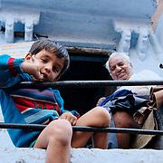Curious boy with grandfather at Jodhpur