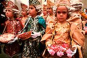 SPAIN, CORPUS CHRISTI, FESTIVAL Toledo; children's procession to Cathedral