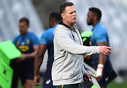 Cape Town-180619 Springbok coach Rassie Erasmus  during their training session at Cape Town stadium,the team is preparing for the last test  against England at Newslands on Saturday..Photographer:Phando Jikelo/African News Agency/ANA