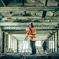 1st Horizon Land Surveyors at work in old industrial and development sites in the North of England