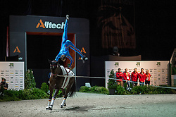 Viktor Brusewitz, (GER), Highlander 82 1, Winnie Schluter - Individuals Men Compulsory Vaulting - Alltech FEI World Equestrian Games™ 2014 - Normandy, France.<br /> © Hippo Foto Team - Jon Stroud<br /> 02/09/2014