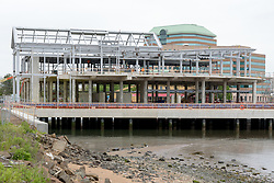 Boathouse at Canal Dock Phase II   State Project #92-570/92-674 Construction Progress Photo Documentation No. 11 on 23 May 2017. Image No. 05 South Elevation