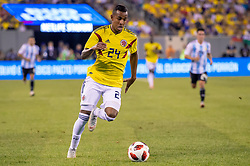 September 11, 2018 - East Rutherford, NJ, U.S. - EAST RUTHERFORD, NJ - SEPTEMBER 11: Colombia midfielder Sebastian Villa (24) controls the ball during the second half of the International Friendly Soccer match between Argentina and Colombia on September 11, 2018 at MetLife Stadium in East Rutherford, NJ. (Photo by John Jones/Icon Sportswire) (Credit Image: © John Jones/Icon SMI via ZUMA Press)