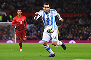 Carlos Tevez of Argentina - Argentina vs. Portugal - International Friendly - Old Trafford - Manchester - 18/11/2014 Pic Philip Oldham/Sportimage