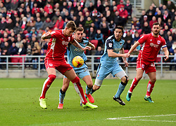 Aden Flint of Bristol City goes for goal  - Mandatory by-line: Joe Meredith/JMP - 04/02/2017 - FOOTBALL - Ashton Gate - Bristol, England - Bristol City v Rotherham United - Sky Bet Championship