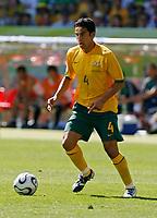 Photo: Glyn Thomas.<br />Australia v Japan. Group F, FIFA World Cup 2006. 12/06/2006.<br /> Australia's Tim Cahill.