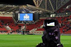 BT Sport cameras at Ashton Gate for Anglo Welsh Cup rugby - Mandatory by-line: Paul Knight/JMP - 11/11/2016 - RUGBY - Ashton Gate - Bristol, England - Bristol Rugby v Sale Sharks - Anglo Welsh Cup