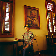 """Author Ernest Hemingway's boat captain, Gregorio Fuentes. The main character in Hemingway's """"The Old Man and the Sea"""" was based on Fuentes."""