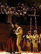 Miami, FL - April 19: Rinat Shaham as Carmen and Franco Pomponi as Escamillo in the Florida Grand Opera Production of Georges Bizet's Carmen. (Photo by Gaston De Cardenas/El Nuevo Herald)