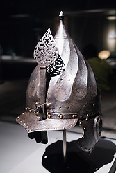 Turban Helmet from Turkey on display at Museum of Islamic Art in Doha Qatar
