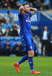 Joe Ralls of Cardiff City shows a look of dejection after a missed chance - Mandatory by-line: Nizaam Jones/JMP- 13/01/2018 -  FOOTBALL - Cardiff City Stadium - Cardiff, Wales -  Cardiff City v Sunderland - Sky Bet Championship