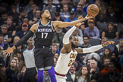 December 27, 2017 - Sacramento, CA, USA - The Sacramento Kings' Garrett Temple (17) steals the ball from the Cleveland Cavaliers' LeBron James (23) on Wednesday, Dec. 27, 2017, at Golden 1 Center in Sacramento, Calif. (Credit Image: © Hector Amezcua/TNS via ZUMA Wire)