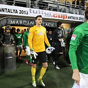 Werder Bremen's goalkeeper Sebastian Mielitz during their Tuttur.com Cup matchday 2 soccer match Trabzonspor between  Werder Bremen at Mardan stadium in AntalyaTurkey on 07 Monday January, 2013. Photo by Aykut AKICI/TURKPIX