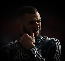 February 9, 2019 - Madrid, Spain - Karim Benzema of Real Madrid reacts during the La Liga match between Club Atletico de Madrid and Real Madrid CF at Wanda Metropolitano on February 09, 2019 in Madrid, Spain. (Credit Image: © Raddad Jebarah/NurPhoto via ZUMA Press)