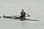 Eton, United Kingdom  GBR LM1X. Jamie COOMBES, at the start of his time trial men's lightweight single sculls at the 2012 GB Rowing Senior Trials, Dorney Lake. Nr Windsor, Berks.  Saturday  10/03/2012  [Mandatory Credit; Peter Spurrier/Intersport-images]