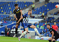 Football - 2019 / 2020 Premier League - Brighton & Hove Albion vs Manchester City<br /> <br /> <br /> Rodrigo ,sets up the header for Jesus to score goal no.2 , at the Amex Stadium<br /> <br /> COLORSPORT/ANDREW COWIE