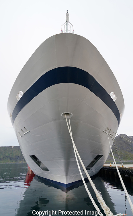 The bow  of the hull of the Viking Sea <br /><br />Photo by Dennis Brack